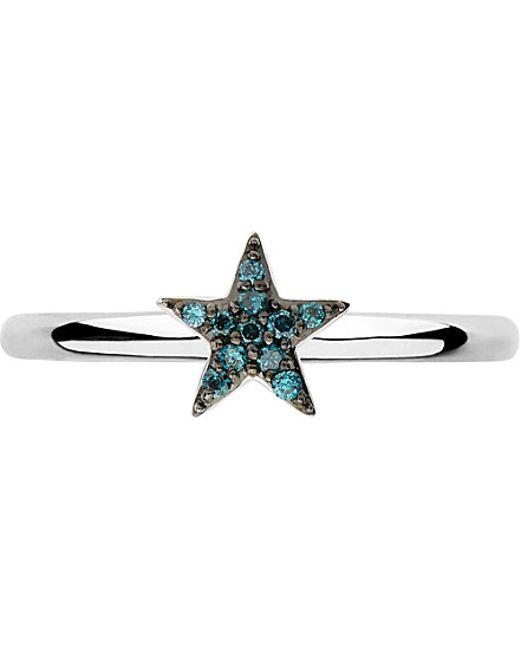 Links of London | Metallic Diamond Essentials Sterling Silver And Diamond Star Ring | Lyst