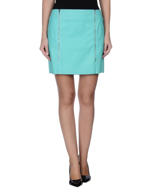 jitrois mini skirt in green lyst