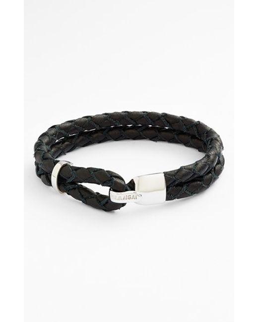 Miansai | Black 'beacon' Braided Leather Bracelet for Men | Lyst