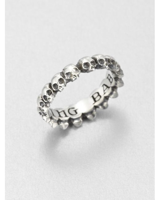 King Baby Studio | Metallic Sterling Silver Skull Infinity Ring | Lyst