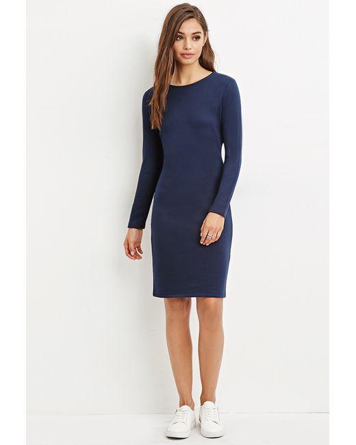 Forever 21 | Blue Knee-length Bodycon Dress | Lyst