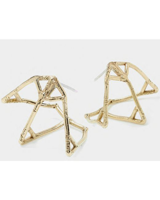 Odette New York | Metallic Atlas Cage Earrings | Lyst