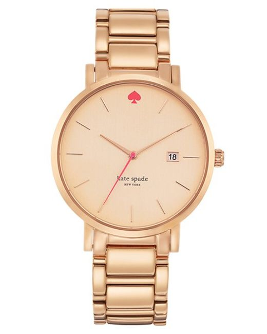 kate spade new york | Metallic 'gramercy Grand' Bracelet Watch | Lyst
