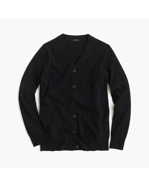J.Crew | Black Classic V-neck Cardigan Sweater | Lyst