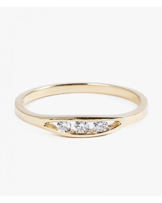 Jennie Kwon | Metallic Flat Diamond Ring | Lyst