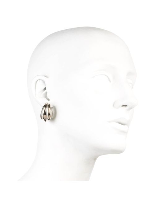 Alexis Bittar | Metallic Silver Marquis Ridged Hoop Earring You Might Also Like | Lyst