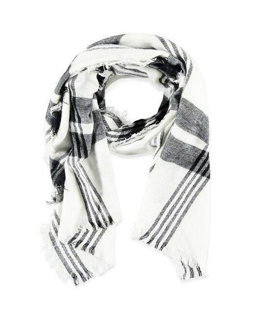 Forever 21 | White Frayed Plaid Scarf You've Been Added To The Waitlist | Lyst