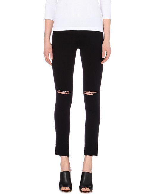 J Brand | Black 620 Ripped Super-skinny Mid-rise Jeans | Lyst