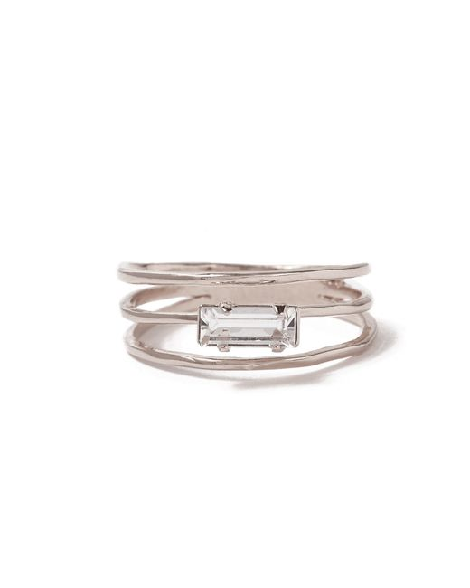 Bing Bang | Metallic Stacked Baguette Ring | Lyst
