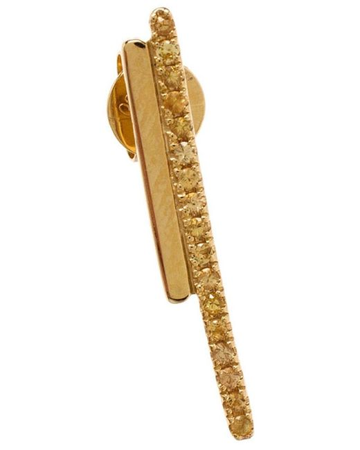 Asherali Knopfer | Metallic Sapphire Bar Earring | Lyst