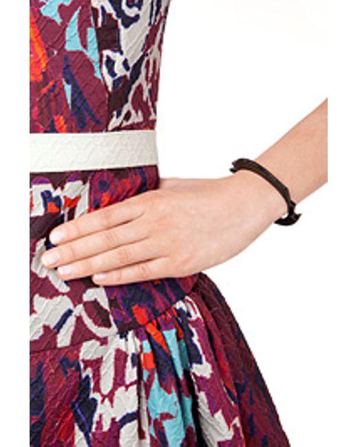 Lynn Ban | Black Rhodium Bracelet 2 With Black Diamonds - Silver | Lyst