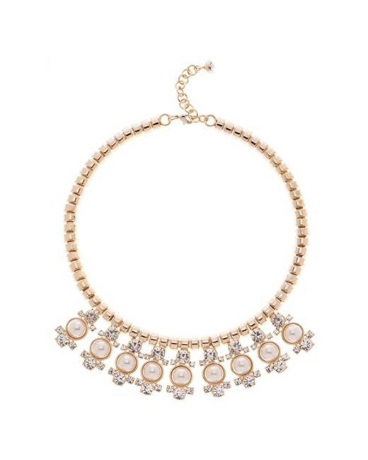 Ted Baker | Metallic Tella Rose Gold Button Pendant Necklace | Lyst
