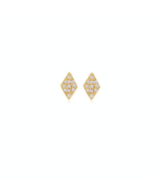 Zoe Chicco | Metallic 14k Pave Diamond Shaped Studs | Lyst
