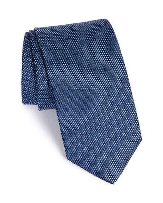 Eton of Sweden | Blue Textured Silk Tie for Men | Lyst