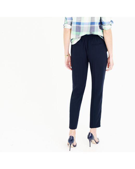 J.Crew | Blue Tall Matte Crepe Trouser | Lyst