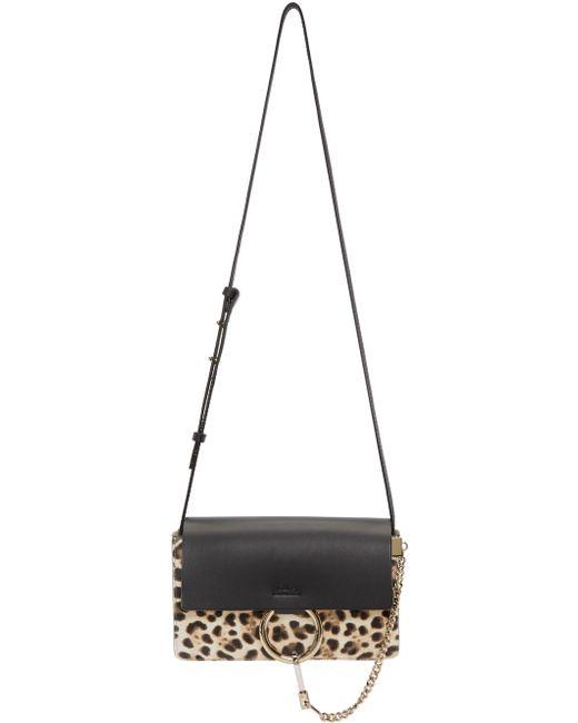 red chloe bags - Chlo�� Black Leopard Small Faye Bag in Floral (black)   Lyst