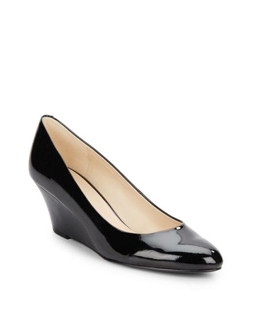 Nine West   Black Mela Glossy Wedge Shoes   Lyst