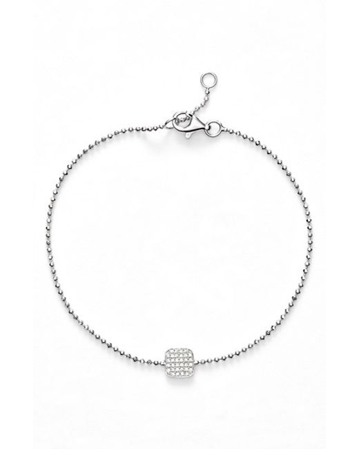 Bony Levy | White 'aurora' Diamond Pave Square Bracelet (nordstrom Exclusive) | Lyst