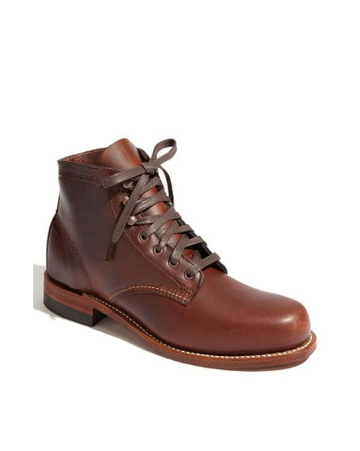 Wolverine | Brown '1000 Mile' Plain Toe Boot for Men | Lyst