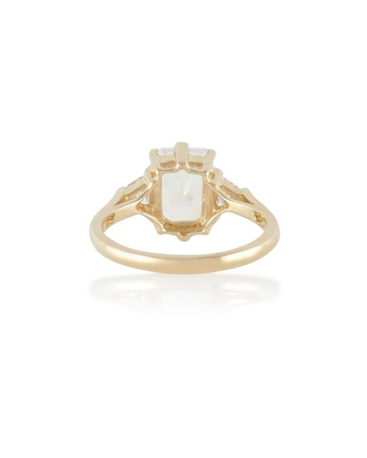 Anna Sheffield | Metallic Moonstone Bea Ring | Lyst