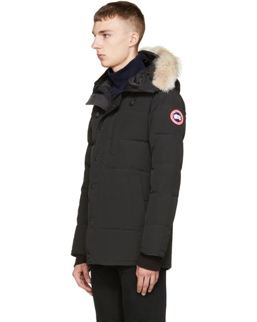 Canada Goose victoria parka sale store - Canada goose Black Down & Fur Black Label Carson Parka in Black ...