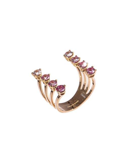 Delfina Delettrez | Metallic Sapphire & Gold Ring | Lyst