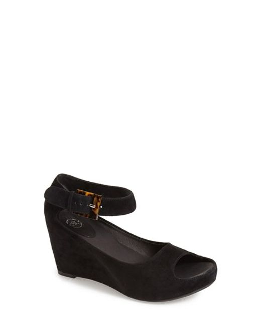 Johnston & Murphy | Black 'tricia' Ankle Strap Sandal | Lyst