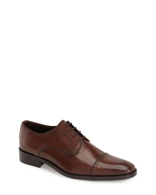 To Boot | Brown 'maxwell' Cap Toe Derby for Men | Lyst