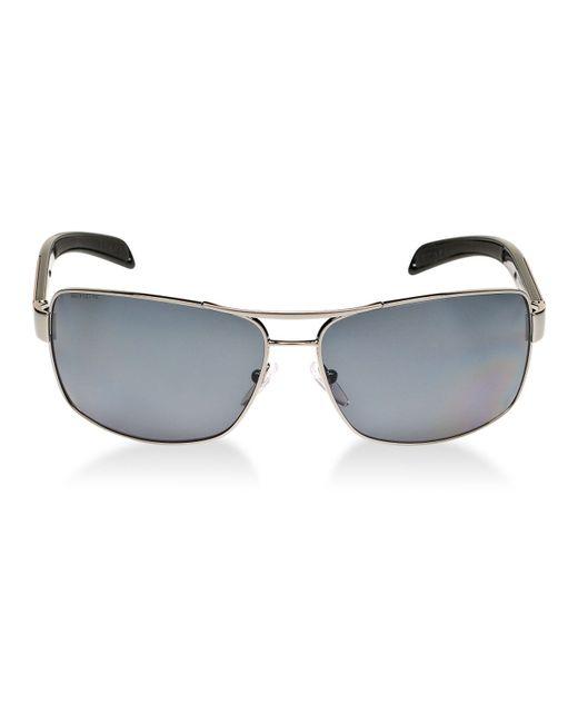 977c0af915 Prada Linea Rossa Ps 54is Polarised Rectangular Sunglasses Black grey