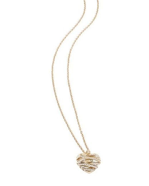 Guess | Metallic Wrapped With Love Necklace | Lyst