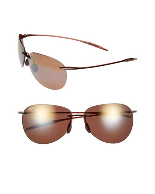 Red Rimless Glasses : Maui jim sugar Beach - Polarizedplus2 62mm Rimless ...