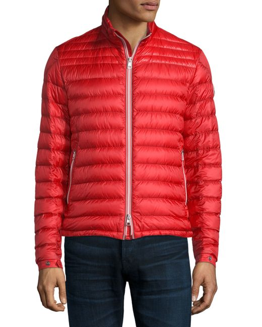 Moncler Daniel Quilted Puffer Jacket In Red For Men Lyst