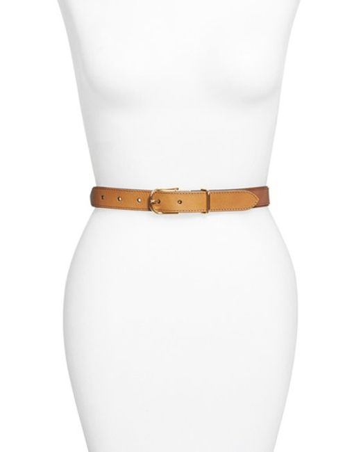 Burberry | Brown 'ewell' Horseferry Check & Leather Belt | Lyst