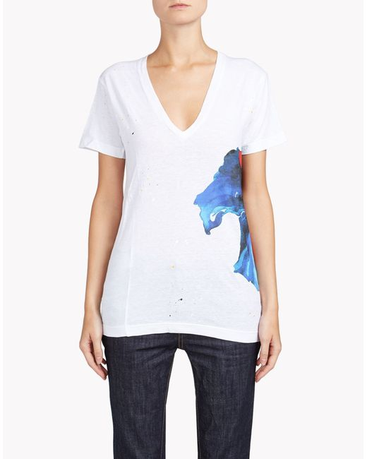 DSquared²   Blue 'long Cool Twisted' T-shirt   Lyst