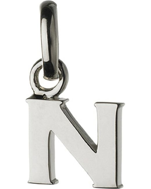 Links of London | Metallic Alphabet N Sterling Silver Charm | Lyst