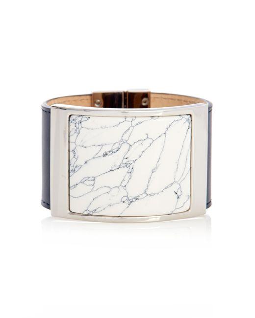 Balenciaga | Blue Marble-Effect Plate Leather Cuff | Lyst