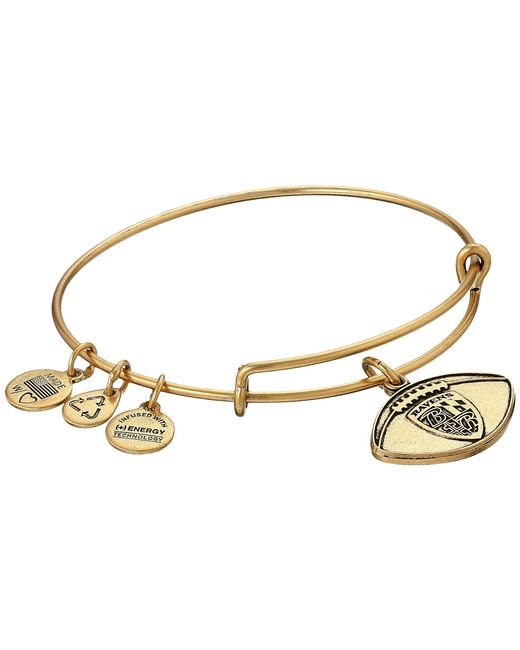 ALEX AND ANI | Metallic Nfl Baltimore Ravens Football Bangle | Lyst
