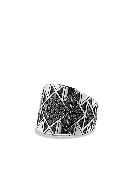 David Yurman | Metallic Frontier Ring With Black Diamonds for Men | Lyst
