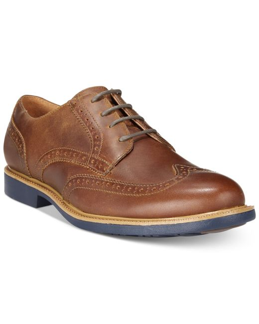 Cole Haan | Brown Men's Great Jones Wing-tip Oxfords for Men | Lyst