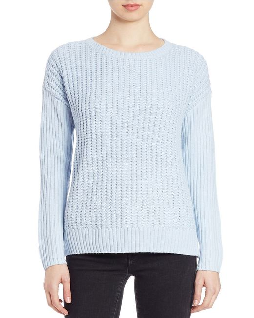 Lord & Taylor | Blue Plus Knit Crewneck Sweater | Lyst