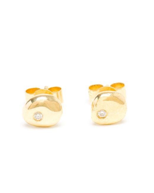 Natasha Collis | Metallic Diamond Stud Earings | Lyst