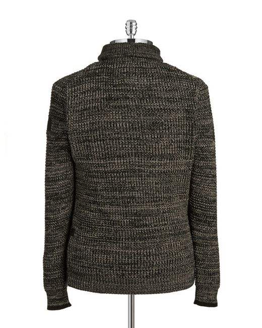G-star raw Knit Henley Sweater in Black for Men - Save 75% Lyst