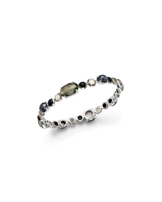 Ippolita | Multicolor Sterling Silver Rock Candy Mixed Prong And Bezel Bangle In Black Tie | Lyst