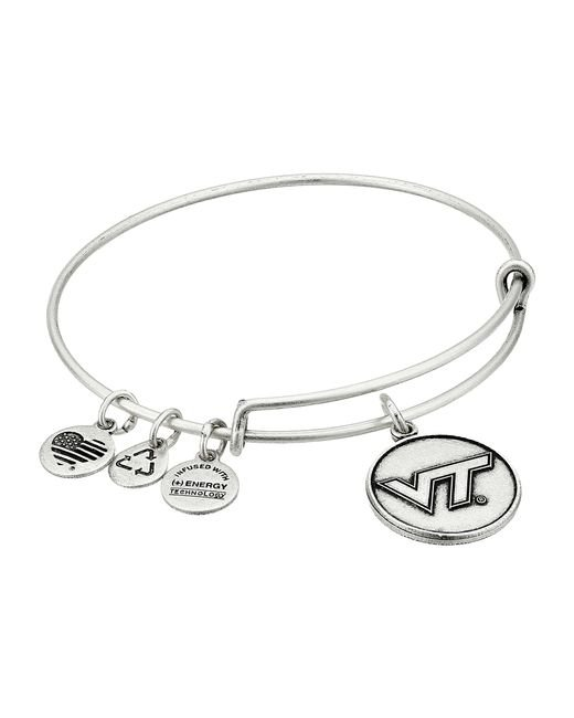 ALEX AND ANI | Metallic Virginia Tech Logo Expandable Bangle | Lyst