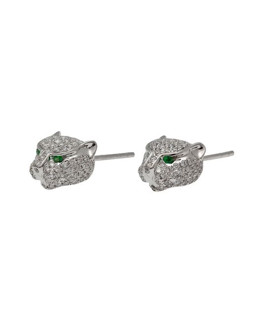 Anita Ko | White Gold And Diamond Panther Stud Earrings | Lyst