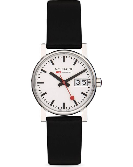 Mondaine | Black A6693030511sbb Unisex Evo Big-date Watch | Lyst
