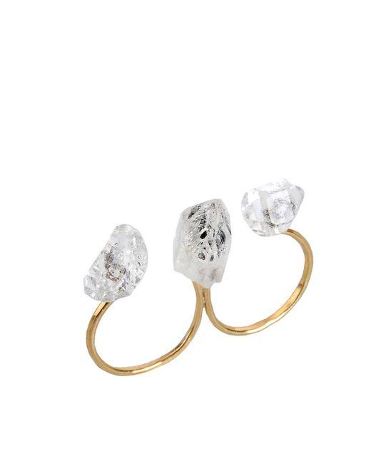 Jorge Morales | Metallic Double Ring - Gold/quartz | Lyst