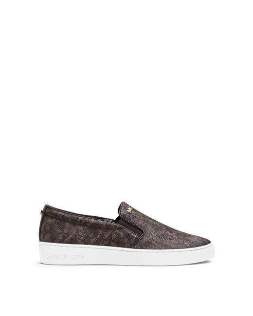 Michael Kors | Brown Keaton Logo Slip-on Sneaker | Lyst