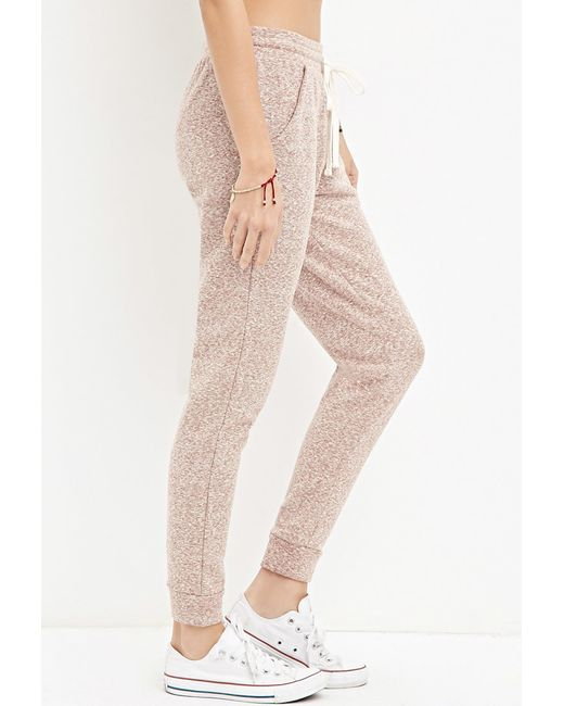 Forever 21 | Brown Marled French Terry Sweatpants | Lyst