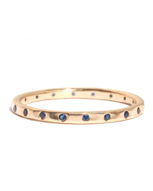 Melissa Joy Manning | Metallic 18 Blue Sapphire Wedding Band | Lyst